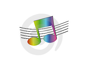 Rainbow Note Royalty Free Stock Photography - Image: 16065877