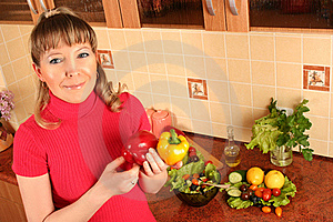 At Domestic Kitchen Stock Images - Image: 16067524