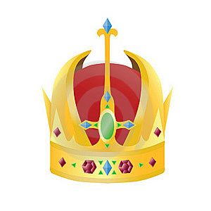 Gold Crown With Precious Stones Royalty Free Stock Image - Image: 16067616