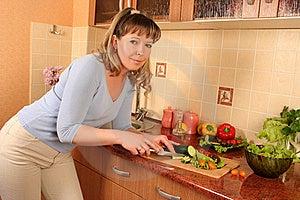 At Domestic Kitchen Royalty Free Stock Photos - Image: 16067658
