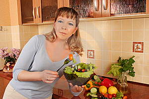 At Domestic Kitchen Stock Images - Image: 16067704