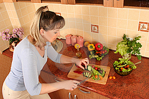 At Domestic Kitchen Stock Photos - Image: 16067933