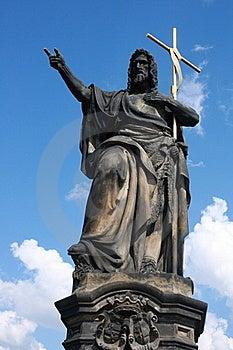 Saint At Charles Bridge Royalty Free Stock Image - Image: 16068316