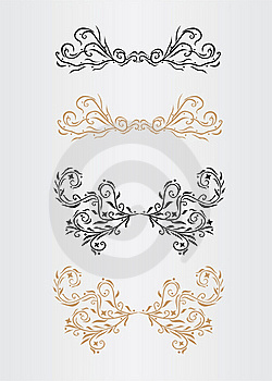 Ornamental Page Decorations Royalty Free Stock Photos - Image: 16069668