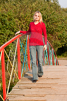 Girl In Red Pullover Royalty Free Stock Photography - Image: 16070777