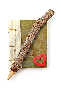 Natural Pencil And Note Pad Stock Image - Image: 16070941