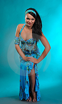 Beautiful Sexy Dancer Woman In Bellydance Costume Royalty Free Stock Image - Image: 16072066