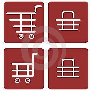 Set Of Shopping Baskets Royalty Free Stock Photos - Image: 16073698