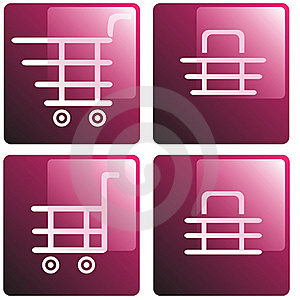 Set Of Shopping Baskets Royalty Free Stock Images - Image: 16073709