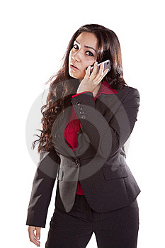 Business Woman On Phone Mad Stock Photos - Image: 16074413