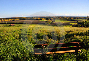 Park Bench With View Of Alaska Range Royalty Free Stock Image - Image: 16074536
