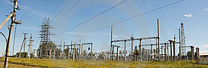 Electricity Pillars Stock Images - Image: 16075094