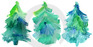 Set Of Fur-trees. Stock Photo - Image: 16077740