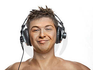 Handsome DJ Stock Photography