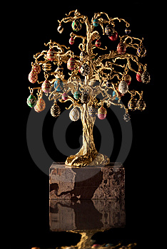 Ornamental golden tree. Stock Image