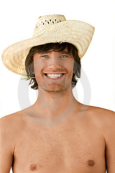 Man smiling in hat Royalty Free Stock Photography