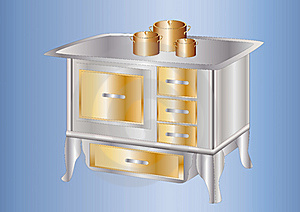 Antique Cooker Stock Photo - Image: 16078600