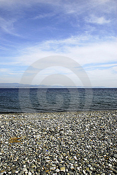 Beach With Blue Sky And Sea Royalty Free Stock Images - Image: 16080869