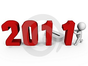 Replacing Numbers To Form New Year 2011 - A 3d Ima Stock Photos - Image: 16081043