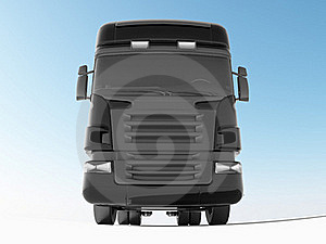Black Truck Front View Royalty Free Stock Photography - Image: 16081517