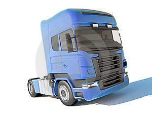 Truck Blue Cab Stock Photography - Image: 16081542