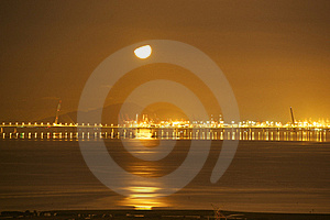 Bridge Across The Sea Stock Image - Image: 16082301