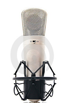 Microphone On White Background Stock Image - Image: 16082581
