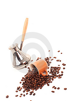 Turk And Coffee Cup On A White Background Stock Photo - Image: 16088300
