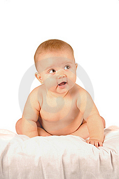 Cute Little Baby Lying Royalty Free Stock Photography - Image: 16088767