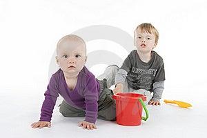 Boy And Little Girl Stock Photo - Image: 16089420