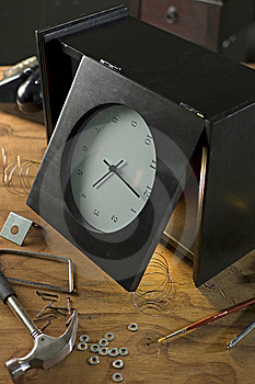 Damaged Clock Royalty Free Stock Image - Image: 16089716