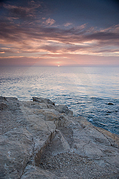 Sunrise Over The Ocean Stock Images - Image: 16089784