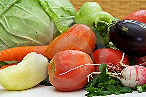 Composition With Raw Vegetables Stock Images - Image: 16090184