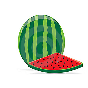 Water Melon Royalty Free Stock Photo - Image: 16093165