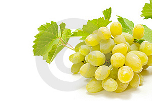 White Grapes Royalty Free Stock Images - Image: 16093819