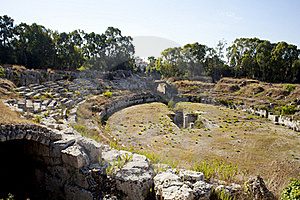 The Roman Amphitheatre, Siracusa Stock Images - Image: 16094804