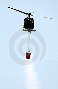 Fire Helicopter Royalty Free Stock Images - Image: 16095489