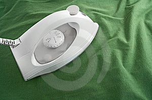 White Iron On Green Cloth Royalty Free Stock Image - Image: 16096906