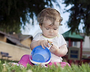 Cute Baby At The Playground Royalty Free Stock Image - Image: 16096976