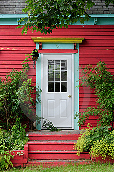 Foliage Door Stock Image - Image: 16098191