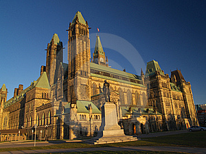 Canadian Parliament Royalty Free Stock Photography - Image: 16100507