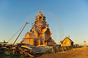 Construction Of A New Church. Stock Photo - Image: 16100940