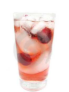 Fruit Red Juice With Ice And Cherry Royalty Free Stock Photo - Image: 16103055