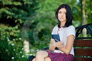 Girl Studying In Park Stock Photography - Image: 16114262