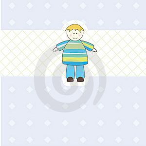 Baby Boy Arrival Announcement Card For You Stock Photos - Image: 16117023