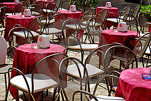 Outdoor Seating - Tropea - Calabria Royalty Free Stock Photos - Image: 16117308