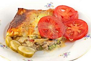 Lasagna And Salad Royalty Free Stock Photo - Image: 16117325