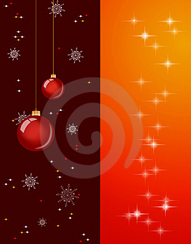 Christmas Background With Baubles And Lights Royalty Free Stock Images - Image: 16117399