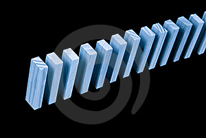 The Beginning Of A Domino Rally Concept Image Stock Images - Image: 16119264