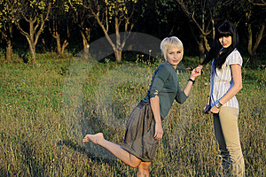Teens Playing In Nature Stock Images - Image: 16126894